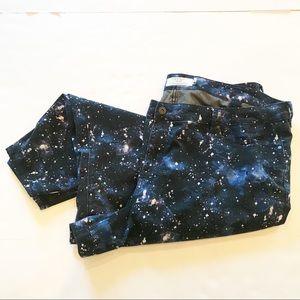 Torrid High Rise Ultra Skinny Space Print Jeans